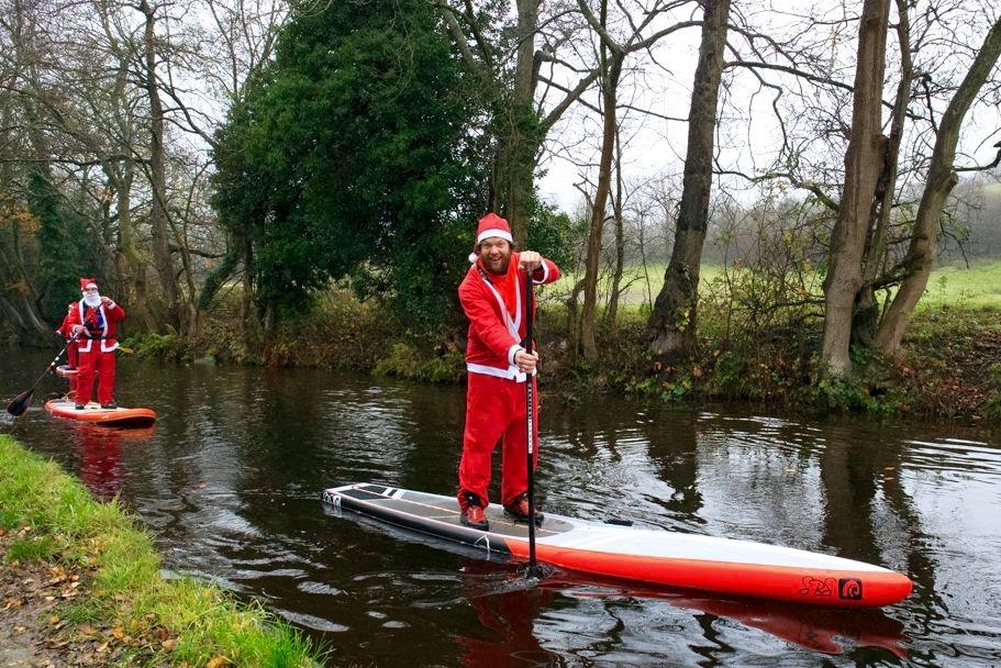 Christmas paddle boarding