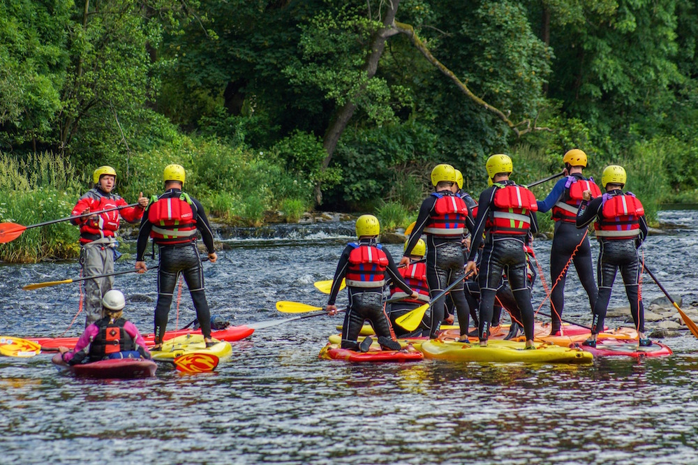 White water SUP group activity